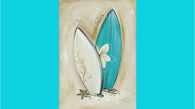"Surf's Up Brushstrokes ""Uncorked"""