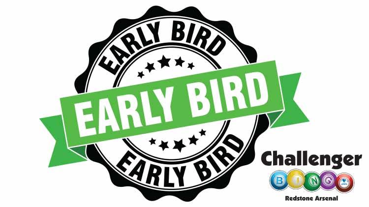 Challenger Bingo Early Bird Happy Hour